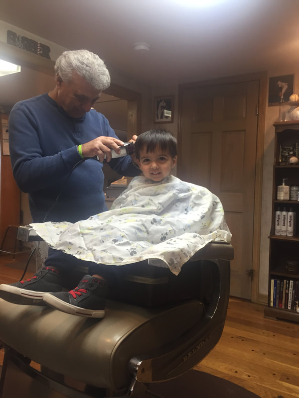 Sal cutting hair